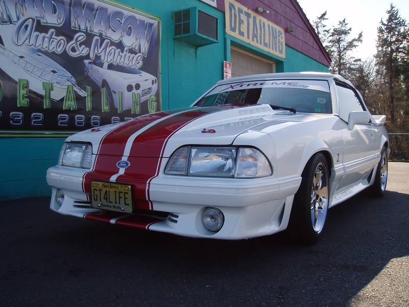 Fox Body Convertible Mustang Racing Stripes Signs101 Com